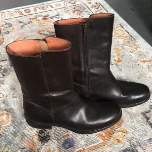 NEW 7.5 J. Crew classic brown leather booties